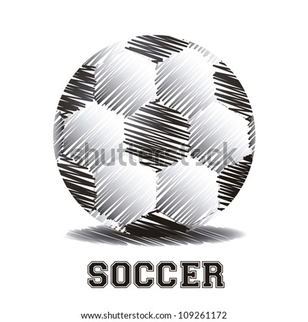 illustration of a soccer ball made from scratches, vector illustration - stock vector