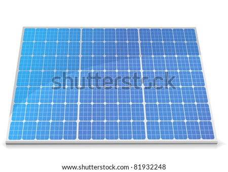illustration of a solar cell module, eps8 vector - stock vector