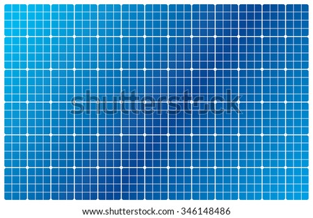 illustration of a solar cell pattern - stock vector