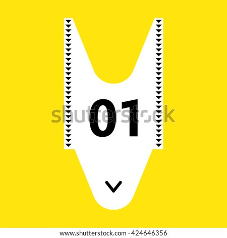 Illustration of a take a number ticket dispenser often used in service lines - stock vector