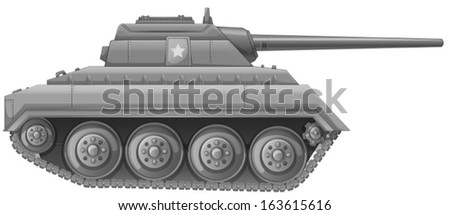 Illustration of a tank on a white background - stock vector