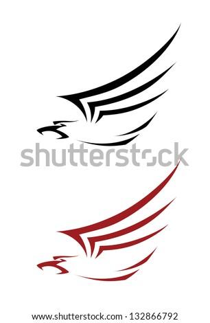 illustration of a tatoo hawk - stock vector