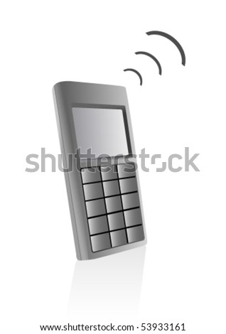 Illustration of a telephone isolated on a white background - stock vector