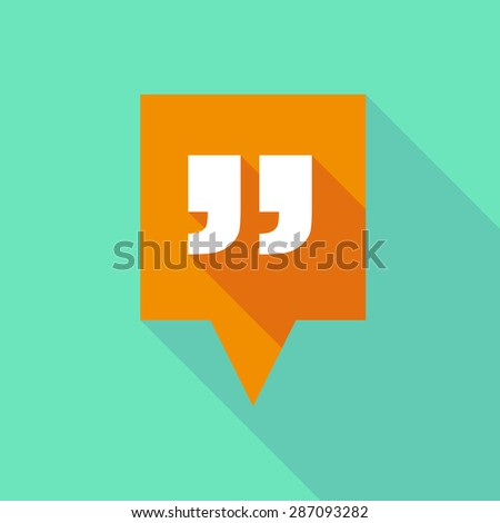 Illustration of a tooltip icon with quotes - stock vector
