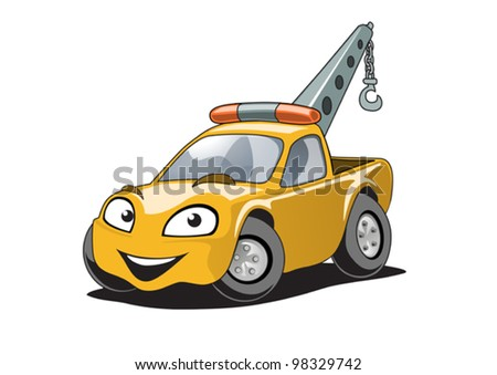 Illustration of a tow track character - stock vector