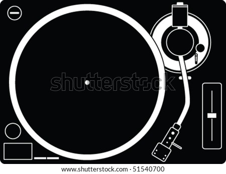 Illustration of a turntable - stock vector