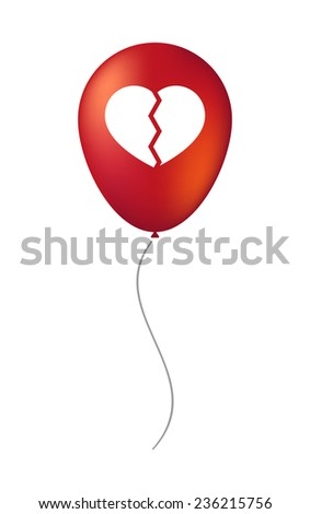 Illustration of a vector balloon with a heart