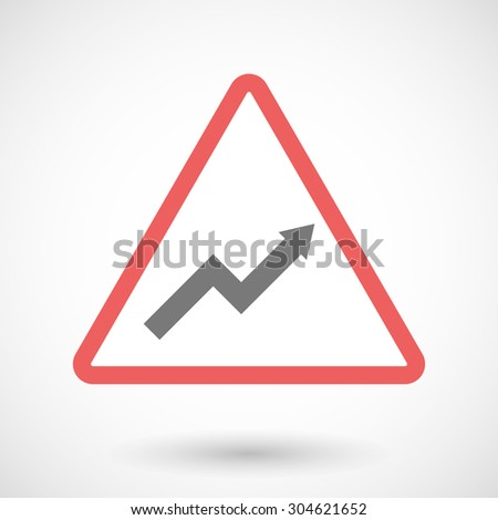 Illustration of a warning signal with a graph - stock vector
