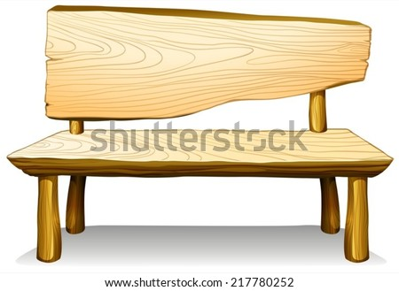 Illustration of a wooden chair furniture on a white background  - stock vector