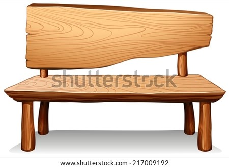 Illustration of a wooden table on a white background - stock vector