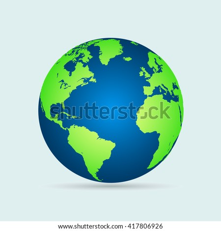 Illustration of a world globe isolated on a white background