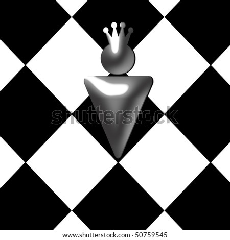 illustration of abstract chess figure