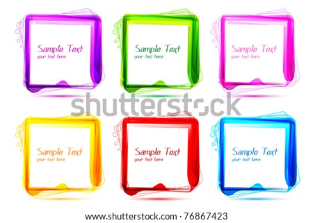 illustration of abstract colorful pattern on white background - stock vector