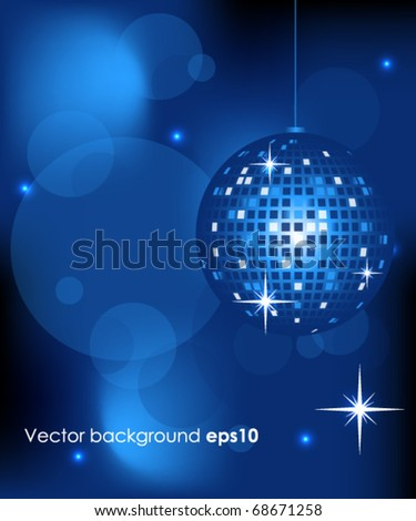 illustration of abstract disco ball - stock vector