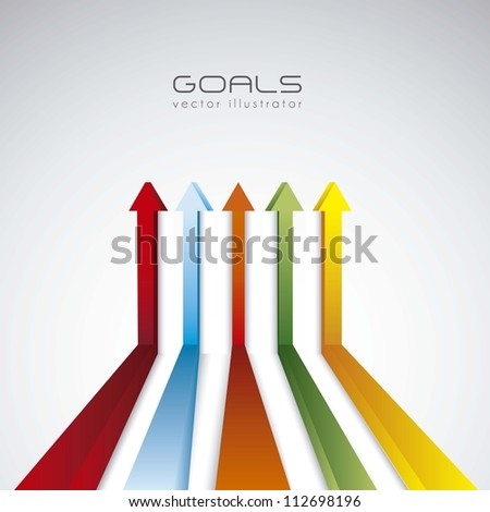 illustration of abstract line in perspective, vector illustration - stock vector