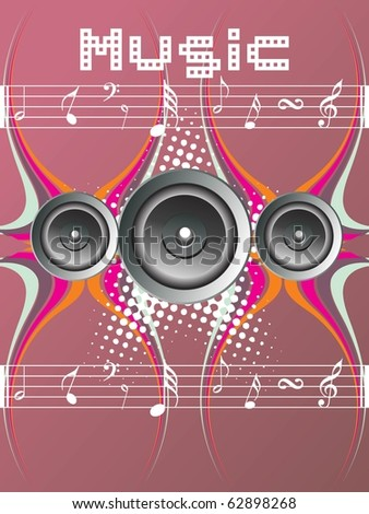 illustration of abstract musical concept background