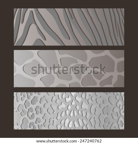 illustration of abstract textures of fur animals - stock vector
