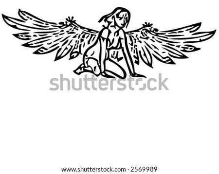 Illustration of an Angel (Vector)