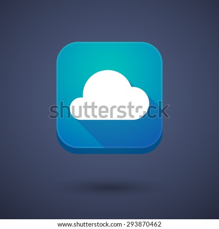 Illustration of an app button with a cloud - stock vector