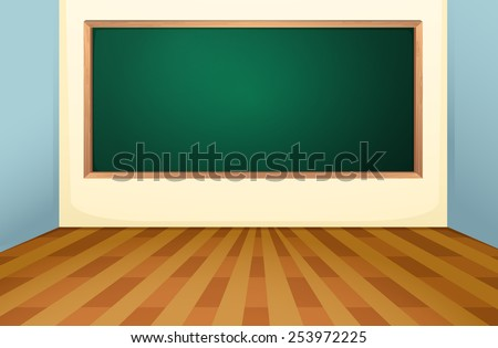 Illustration Empty Classroom Board Stock Vector 253972225