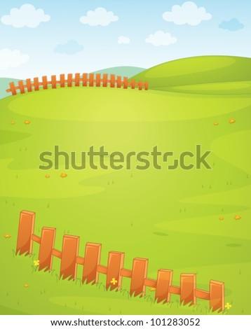 Illustration of an empty field - stock vector