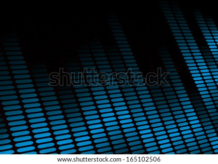illustration of an equalizer visualisation, symbol for music and sound - stock vector