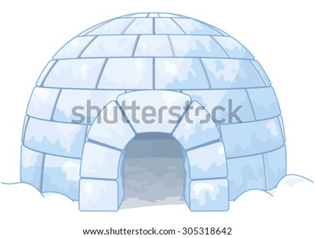 Illustration of an igloo - stock vector