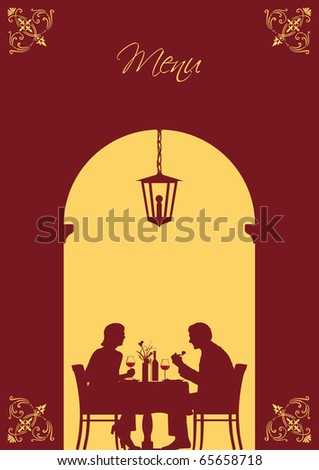Illustration of an image that can be used as menu card cover or invitation card