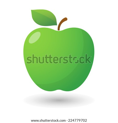 illustration of an isolated apple icon  - stock vector