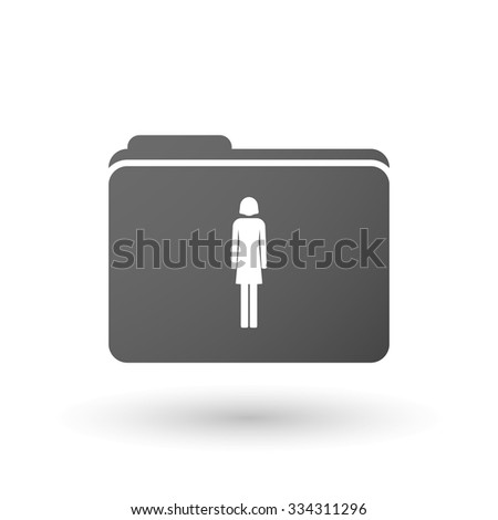 Illustration of an isolated binder with a female pictogram