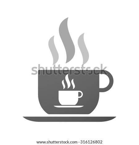 Illustration of an isolated cup of coffee with a cup of coffee