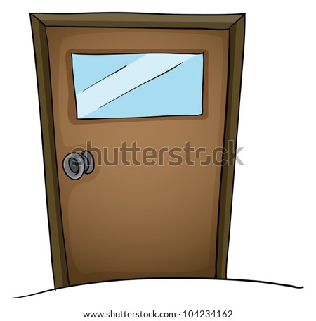Illustration of an isolated door - stock vector