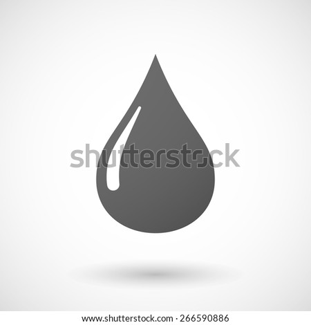 Illustration of an isolated grey oil drop sign - stock vector