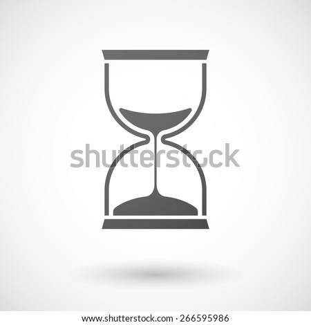 Illustration of an isolated grey sand clock icon - stock vector