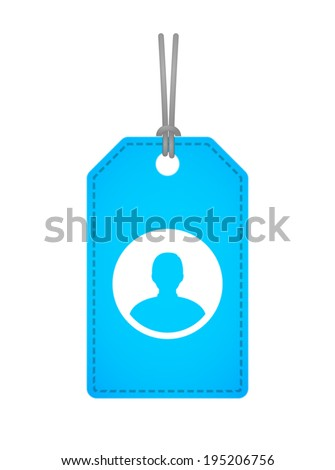 Illustration of an isolated label with an icon - stock vector