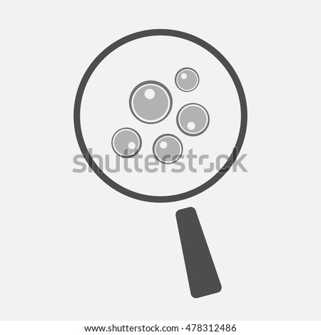 Illustration of an isolated magnifier icon with oocytes