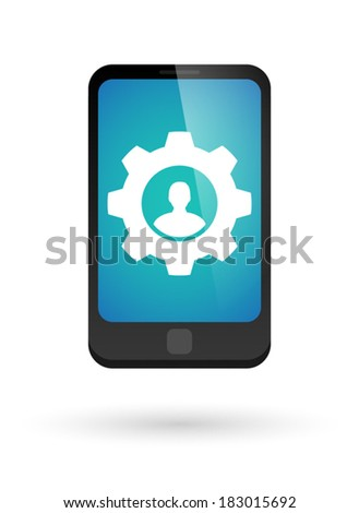 Illustration of an isolated phone with an icon - stock vector