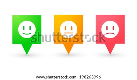 Illustration of an isolated tooltip icon set - stock vector