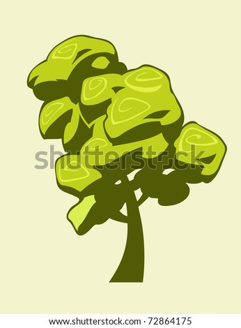 Illustration of an isolated tree