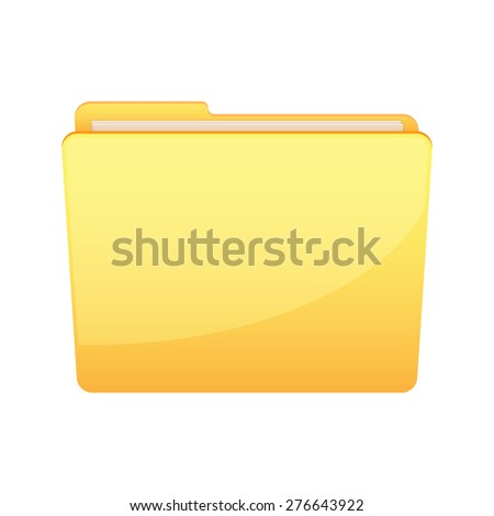 Illustration of an isolated yellow folder icon