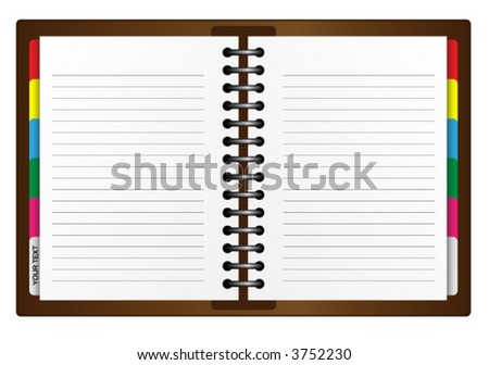 Illustration of an Organizer. Vector. - stock vector