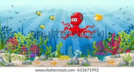 Under Sea Vector Background 258245510