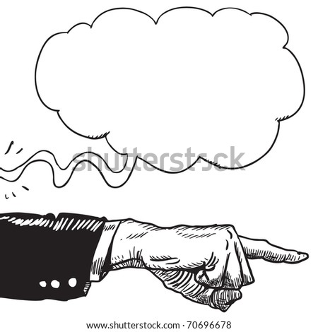 Illustration of an unknown man giving an order - stock vector