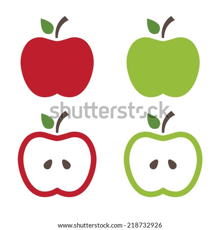 Illustration of apples .Vector