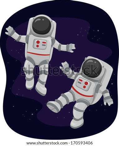 astronaut floating in space clipart -#main