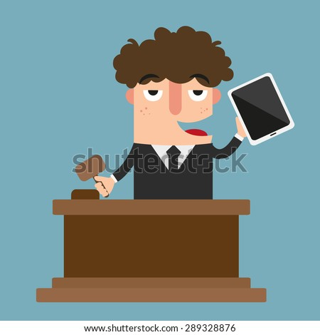 Illustration of auction vector - stock vector