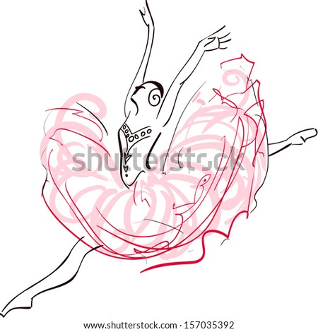 Illustration of Ballerina - stock vector