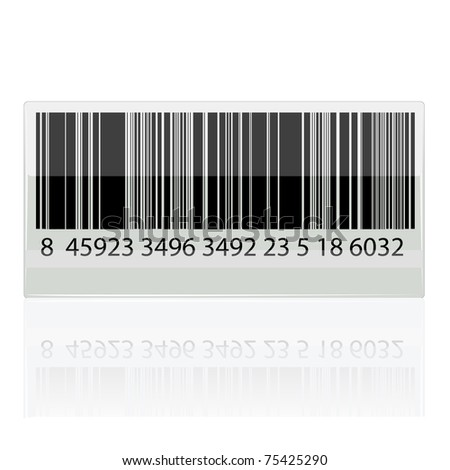 illustration of bar code sticker on white background