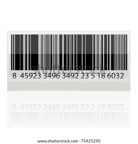 illustration of bar code sticker on white background - stock vector