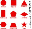 Illustration of Basic Geometric Shapes with Captions for Children Education - stock photo